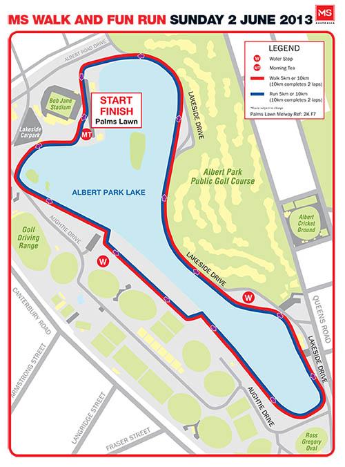 MS Walk + Run Melbourne 2013 Map