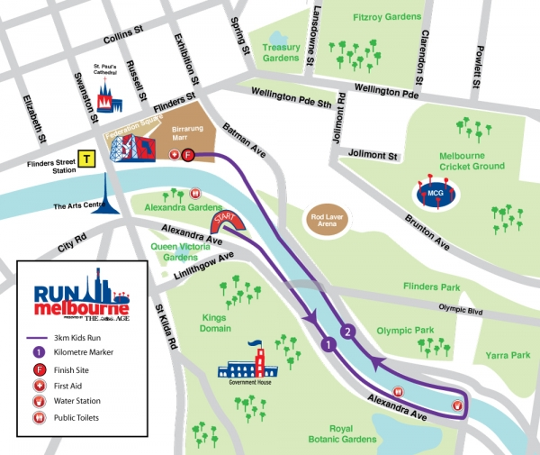 Kids Run Map