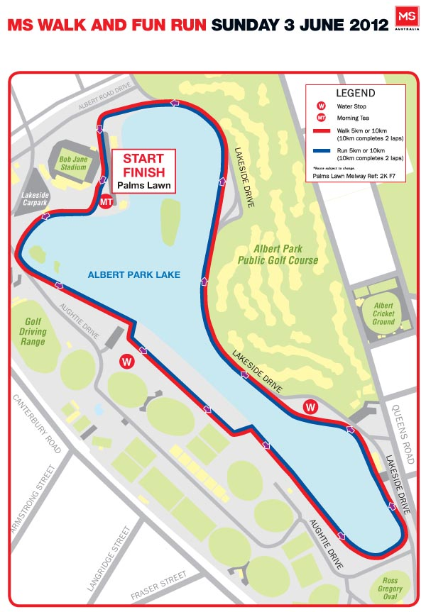 MS Albert Park 2012 Map