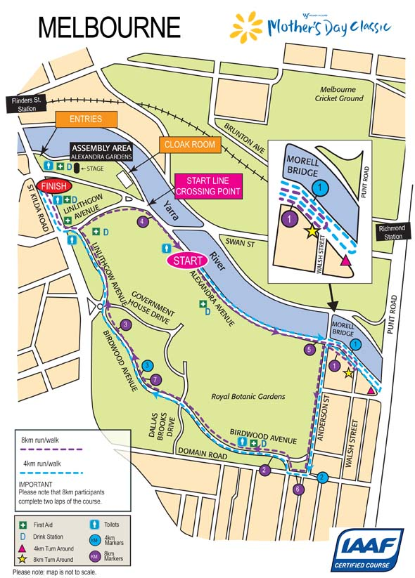 Mothers Day Classic Map 2012