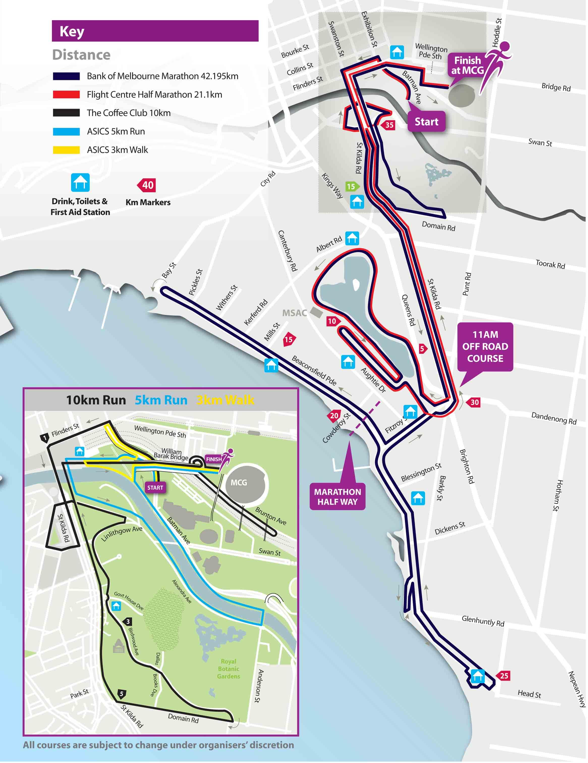 Melbourne Marathon Map