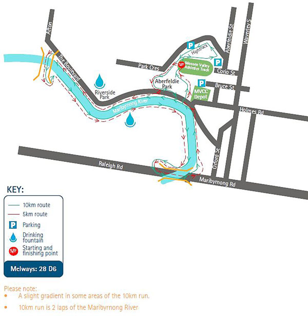 Moonee Valley Classic Map 2012