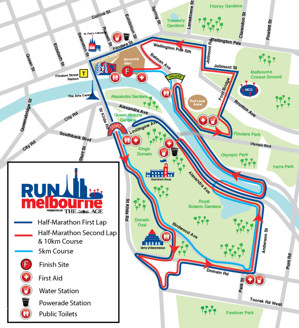 Run Melbourne Map