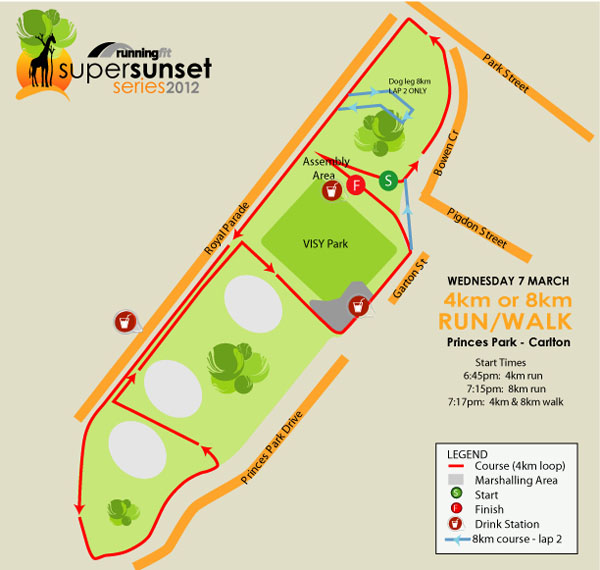 Running Fit Super Sunset Series – Race 3 Map
