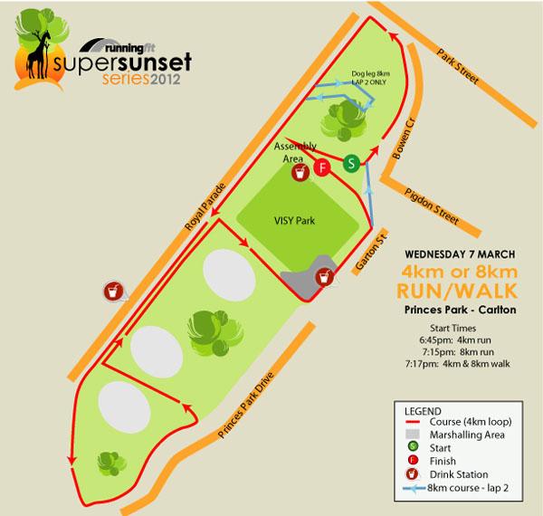 Running Fit Super Sunset Series – Race 3 Map