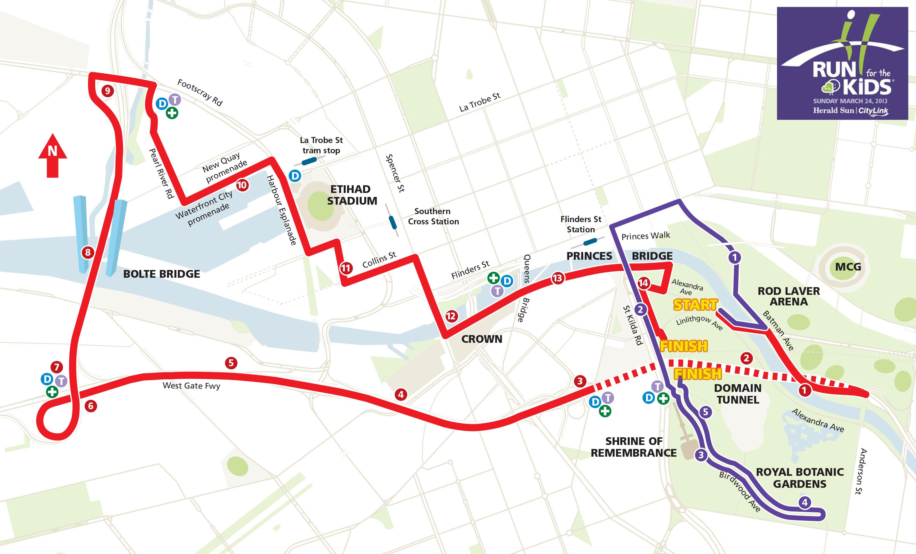 Run for the Kids Course Map