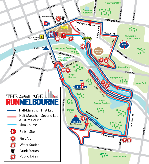 Run Melbourne 2012 Map