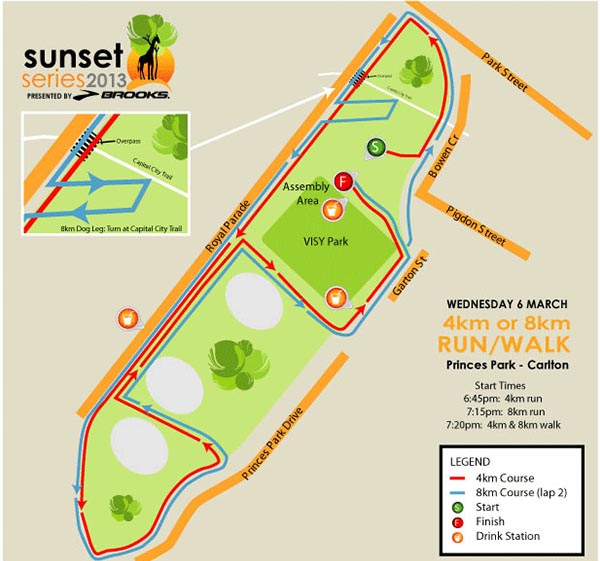 Race 3 Map - Princes Park, Carlton, VIC