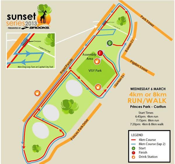 Race 3 Map - Princes Park, Carlton, VIC