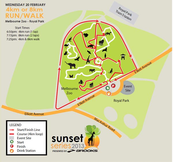 Race 2 Map - Melbourne Zoo - Royal Park