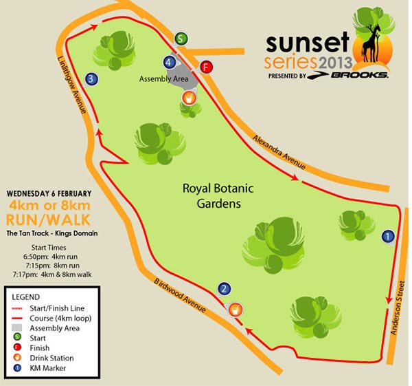 Race 1 Map - The Tan Track