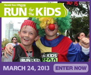 logo for Melbourne's 2013 Run for the Kids