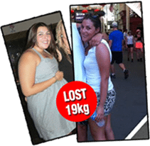 Female personal training results, before and after