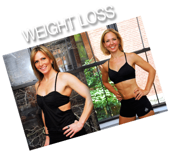 Weight loss program and client before and after picture